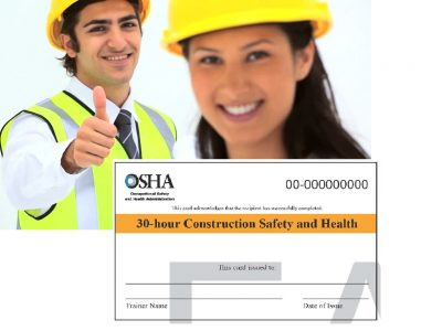OSHA 30hrs-General Industry Safety and Health